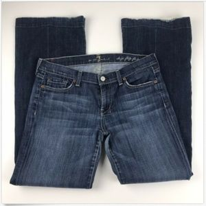 7 For All Mankind Dojo Jeans 29 Flip Flip Flare